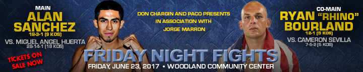 Alan Sanchez Ryan Bourland June 23 Woodland Paco Presents